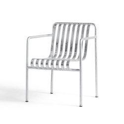 Palissade Dining Armchair Hot Galvanised | Sillas | HAY