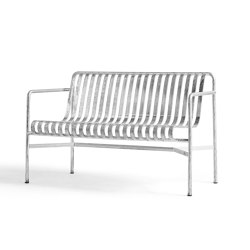 Palissade Dining Bench Hot Galvanised | Bancos | HAY