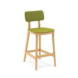 Porta Venezia kitchen stool upholstered seat and back | Sgabelli bancone | Infiniti