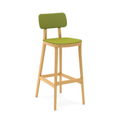Porta Venezia bar stool upholstered seat and back | Sgabelli bancone | Infiniti