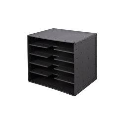 Tray 5-compartments, graphite | Portaobjetos | BIARO