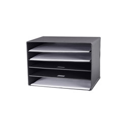 Tray 5-compartments for A3, graphite | Portaobjetos | BIARO
