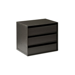 Tray drawer compartments, graphite | Desk tidies | BIARO