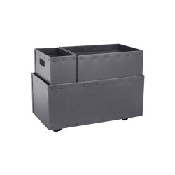 Recycling box Double with wheels, graphite | Waste baskets | BIARO