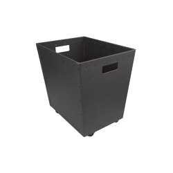 Stackable paper tray with wheels, graphite | Waste baskets | BIARO