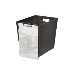Stackable paper tray with wheels and clips, graphite | Waste baskets | BIARO