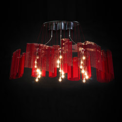 Elongated Faraway Tree - 1600 RED | Suspended lights | Willowlamp