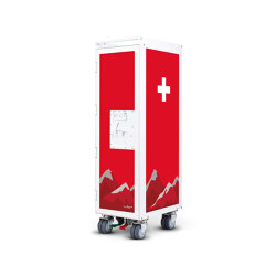 bordbar_white_swiss cross | Trolleys | bordbar