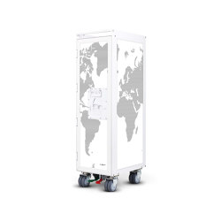 bordbar_white_worldmap_with black lines | Trolleys | bordbar