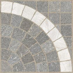 Aurelia Grigio | Arco Bianco | Lastre ceramica | Rondine