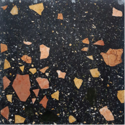 Terrazzo Flooring Colour Black High Quality Designer