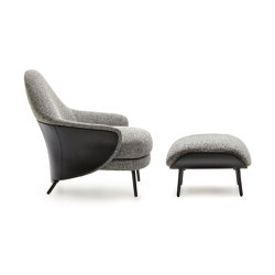 Angie Armchair with footstool | Armchairs | Minotti
