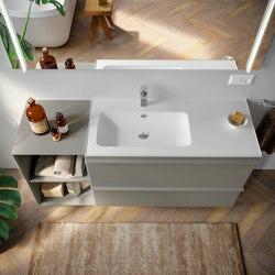 Washbasin in Mineralgloss and Mineralmatt Edge | Wash basins | Berloni Bagno
