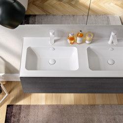 Washbasin in Mineralgloss and Mineralmatt Edge | Systèmes de façade | Berloni Bagno