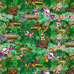 Playing with Tanks | artist wallpaper | Wall coverings / wallpapers | Ginny Litscher