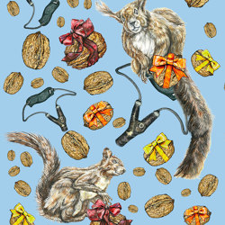 Squirrel | artist wallpaper | Wall coverings / wallpapers | Ginny Litscher
