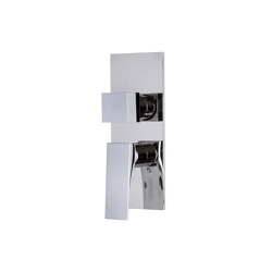 Zeta F3969X6 | Built-in mixer with 2/3 outlets diverter | Shower controls | Fima Carlo Frattini
