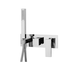 Zeta F3989X2 | Single lever bath and shower mixer for concealed installation 2 outlet with shower set | Shower controls | Fima Carlo Frattini