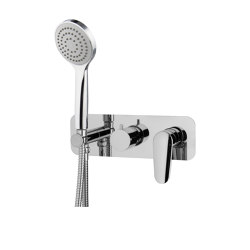 Spot F3019X2 | Single lever bath and shower mixer for concealed installation 2 outlet with shower set | Shower controls | Fima Carlo Frattini
