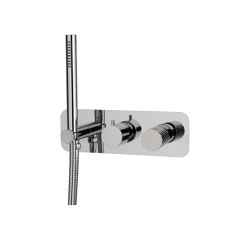 Spillo Tech F3049X2X | Single lever bath and shower mixer for concealed installation 2 outlet with shower set | Shower controls | Fima Carlo Frattini