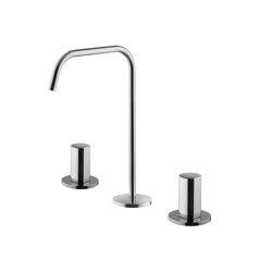 So F3191A | 3-holes basin mixer with swivel spout | Wash basin taps | Fima Carlo Frattini