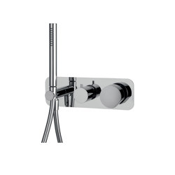 So F3169X2 | Single lever bath and shower mixer for concealed installation 2 outlet with shower set | Shower controls | Fima Carlo Frattini