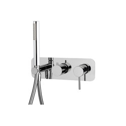 Spillo Up F3049X2 | Single lever bath and shower mixer for concealed installation 2 outlet with shower set | Shower controls | Fima Carlo Frattini