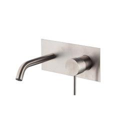Spillo Steel F3081X5 | Wall mounted wash basin mixer INOX | Wash basin taps | Fima Carlo Frattini