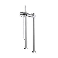 Matrix F3534/4 | Mezclador de suelo para bañera con set de ducha | Grifería para bañeras | Fima Carlo Frattini