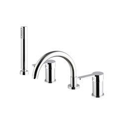 Matrix F3544 | Batería encimera para bañera | Grifería para bañeras | Fima Carlo Frattini