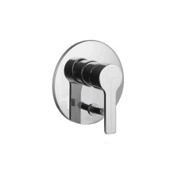 Matrix F3539X2 | Single lever bath and shower mixer for concealed installation with 2 outlets diverter | Shower controls | Fima Carlo Frattini