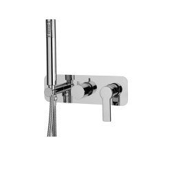 Mast F3149X2 | Single lever bath and shower mixer for concealed installation 2 outlet with shower set | Shower controls | Fima Carlo Frattini