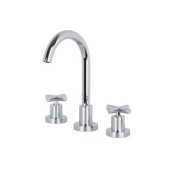 Maxima F5301W | 3-holes basin mixer with swivel spout | Wash basin taps | Fima Carlo Frattini