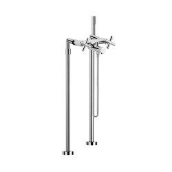 Maxima F5304/4 | Batería a suelo para bañera con set de ducha | Grifería para bañeras | Fima Carlo Frattini