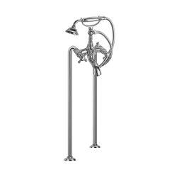 Elizabeth F5084/4 | Batería a suelo para bañera con set de ducha | Grifería para bañeras | Fima Carlo Frattini