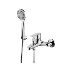 Serie 22 F3834 | Mezclador para bañera con set de ducha | Grifería para bañeras | Fima Carlo Frattini
