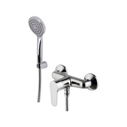 Serie 22 F3835 | Exposed shower mixer with shower set | Shower controls | Fima Carlo Frattini