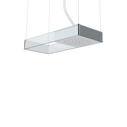 Moove F2993VT | Ceiling mounted showerhead with tempered glass frame | Shower controls | Fima Carlo Frattini