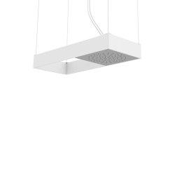 Moove F2993B | Ceiling mounted showerhead with white matt frame | Shower controls | Fima Carlo Frattini