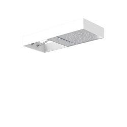 Moove F2992B | Showerhead with white frame | Shower controls | Fima Carlo Frattini