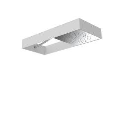 Moove F2991B | Showerhead with white frame | Shower controls | Fima Carlo Frattini