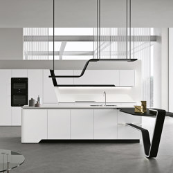 Vision | Arctic white | Fitted kitchens | Snaidero USA
