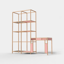 Cabinet + Desk Connect | Shelving | Cartoni Design