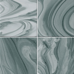 Hanami | Mankai Turquesa | Baldosas de cerámica | VIVES Cerámica