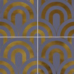Hanami | Takada Indigo Oro | Ceramic tiles | VIVES Cerámica