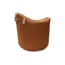 Satellite Leather 48 Cognac | Pufs saco | Trimm Copenhagen