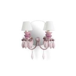 Belle de Nuit 2 Lights Wall Sconce | Pink (CE/UK) | Wall lights | Lladró