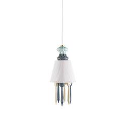Belle de Nuit Ceiling Lamp with Lithophane | Black (CE/UK) | Suspended lights | Lladró