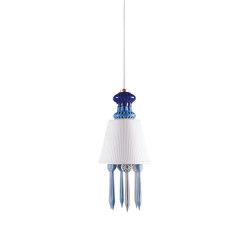 Belle de Nuit Ceiling Lamp with Lithophane | Blue (CE/UK) | Suspended lights | Lladró