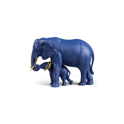 Bold Blue Collection | Leading The Way Elephants Sculpture | Limited Edition | Objets | Lladró